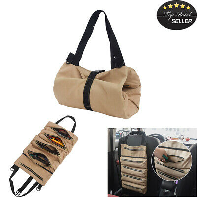 Mens Leather Car Key Case Coin Trifold Wallet ID Card Cash Keys Holder Brown