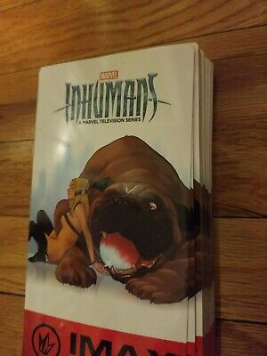 RARE LOT of 50 INHUMANS TV Regal IMAX Collectible Tickets #500 MARVEL