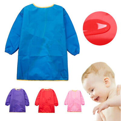 Various Children Kids Waterproof Art Smock Long Sleeve Drawing Painting Apron