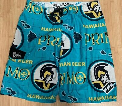8b910e3a28 Mens Billabong Surf Primo Beer Shorts Trunks Limited Edition Surfing Hawaii  Rare