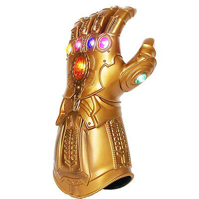 Avenge 3 Infinity War Gauntlet LED Cosplay Thanos Gloves The Avengers Prop Gifts