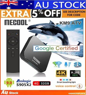 ✔KM9 Pro ATV Android 9.0 TV Box 4GB 32GB Voice Search 2.4/5G Wifi Kodi MX10 MXQ
