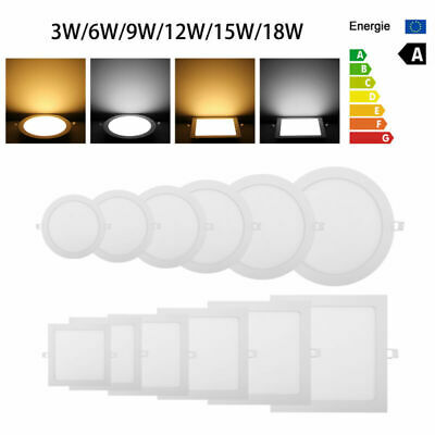 Ultra-thin Trim Recessed Flat LED Ceiling Light Dimmable Panel LED Lamp Light