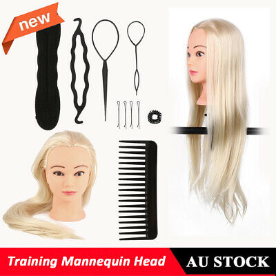 "26"" Hairdressing & Makeup Training Practice Head Mannequin Head with Clamp+Comb"