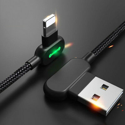 LED USB Cable Charging Data Cord Fast Charging Lightning For IPhone X 8 Apple...