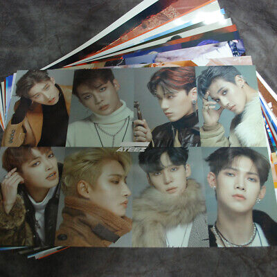 ATEEZ 12 Posters Collection Bromide (12PCS) + ATEEZ  A3 Photo Sticker