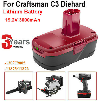 Lithium Battery For Craftsman 19.2V 3.0Ah C3 130279005 11375 11376 315.115410 FT