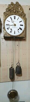 Antique French Comtouise Wall Clock with Strike