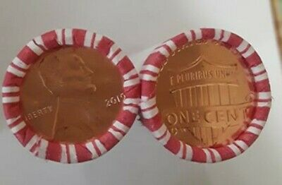 2019P Lincoln cent penny  -Two(2)rolls- uncirculated! COIN HUNTING!!!