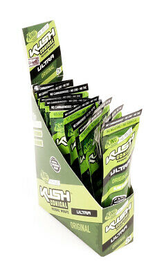 1 Box KUSH Conical Herbal Wraps Ultra Slow Burn, ORIGINAL aus Hanf - ohne Tabak!