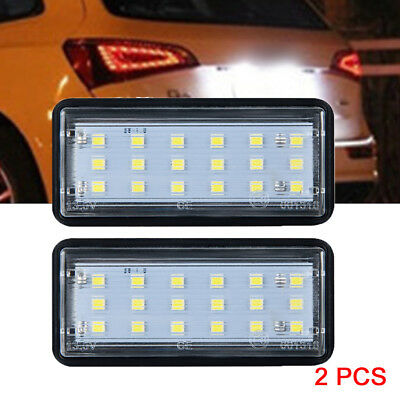 Pair Error Free LED License Plate Lights For Toyota Land Cruiser Lexus GX LX470