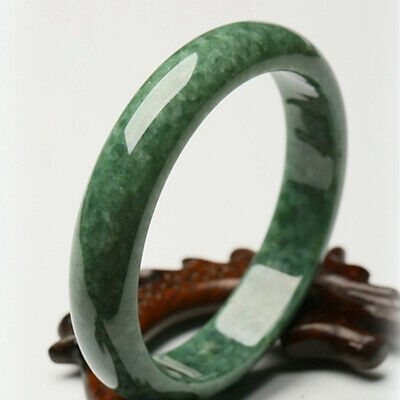 Glossy Hand Carved Bracelet Beautiful Bangle Chinese Green Jade 54mm-64mm