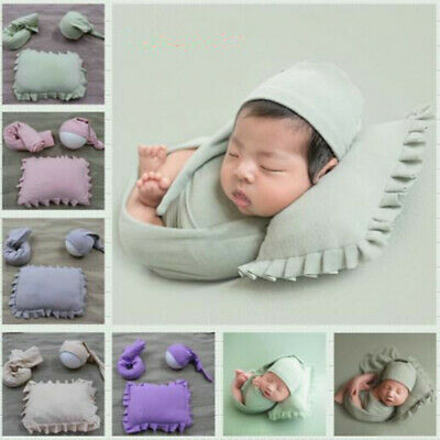 1Set Newborn Baby Photography Props Pillow Hat Wrapping Infant Studio Shoot