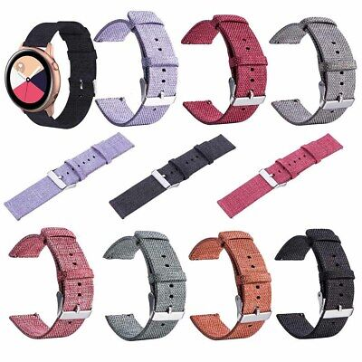 20Mm Durable Soild Color Canvas Smart Watch Strap For Samsung Galaxy Active