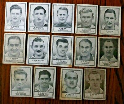 Barratt, Famous Footballers (Unnumbered Black) 1935  Trade Cards, Pick The Cards