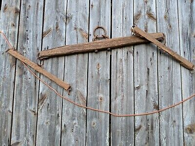 Vintage/ Primitive Yoke Double Tree Horse Harness~Rustic Decor