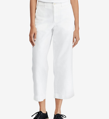 Polo Ralph Lauren Cropped Twill Wide-Leg Pants MSRP $125 Size 6 # 9A 665 NEW