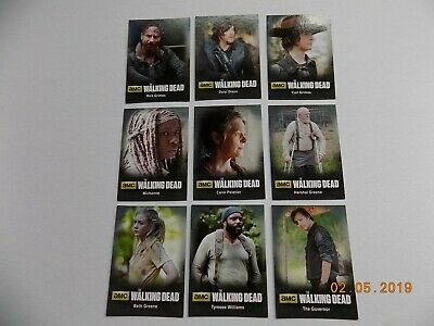 Cryptozoic The Walking Dead Season 4 Part 1 Character Chase Card Set C01 - C09