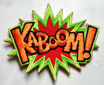 Kaboom! Sound of an Explosion Embroidered Iron on Patch Free Shipping
