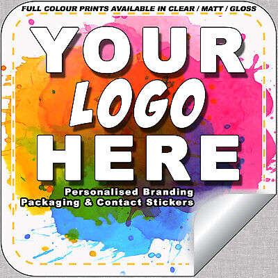 Printed LOGO Stickers Square Custom Logo labels & postage labels - Personalised