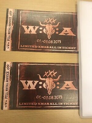 2x Wacken 2019 Ticket W:O:A