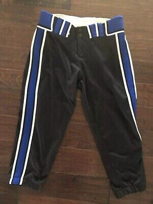 a4bc6bf87651 Black /Blue /White Boombah Softball/Baseball pants size 32