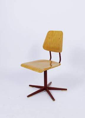 Vintage 1960' Swiss Made  Height Adjustable  School Chair By Embru