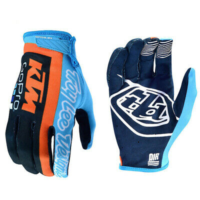 Guanti Cross Enduro Troy Lee Designs Air Glove Tld Ktm Team Gopro Taglia M
