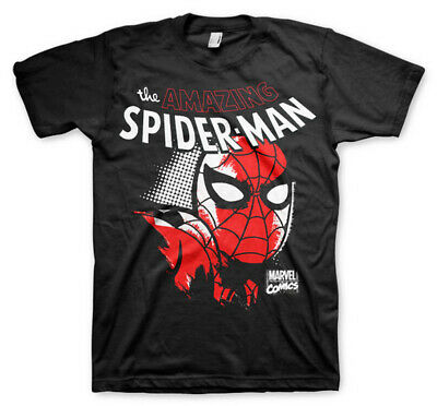 The Amazing Spiderman Marvel Comics Official Tee T-Shirt Mens Unisex