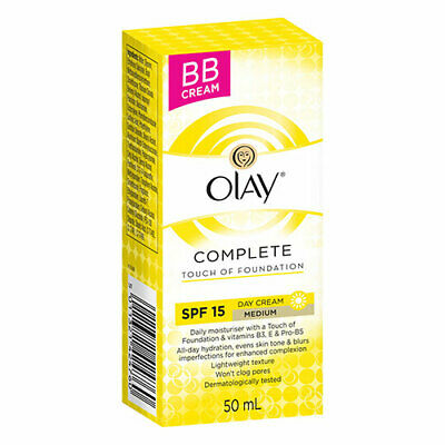 NEW Olay Face Makeup Day Cream Even Complexion Touch Of Foundation 50ml
