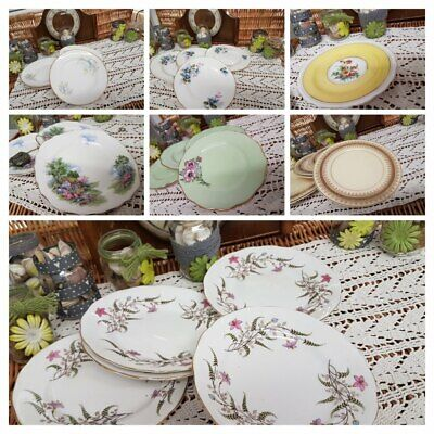 Cake, side, salad, plates ,mismatched china sets, mismatched, high tea,tea party