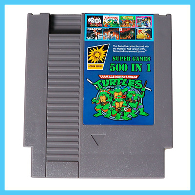 [ 500 in 1 NES Classic Nintendo Super Game Cartridge Contra TMNT Bubble Bobble 2
