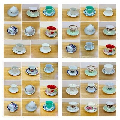 Coffee cups,matching saucers,mismatched china sets,mismatched,high tea,tea party