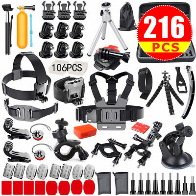 Gopro Accessories Kit Head Chest Monopod Bike Surf Mount for GoPro Hero7 6 5 4 3