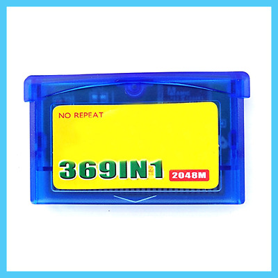369 in1 Video Game Cartridge Multicart for GBA SP NDS Game Boy Advance Pokemon