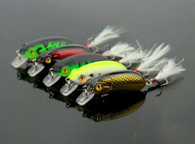 5pc Fishing Wobblers Bass Spinner Bait Artificial Fishing Lures Fishing Tackle E