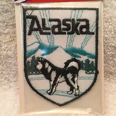 """Alaska. 2"""" X 2.3/4"""" Embroidered Iron On Patch. New In Package."""
