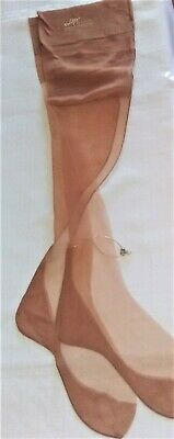 ef907be1366 Vtg Willys Of Hollywood Seamed Cuban Heel Jeweled Anklet Ff Nylon Stockings  9.5