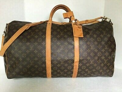 Louis Vuitton Monogram Bandouliere 60 W/strap MI8906 AUTHENTICITY VERIFIED
