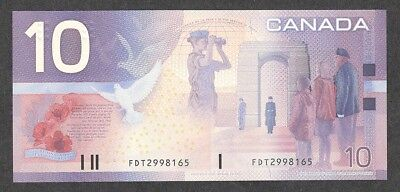 2001 $10.00 BC-63a GEM++ UNC EPQ Remembrance & Peace Keeping BEAUTY Canada Note