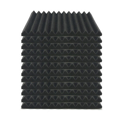 6/12/24Pcs Acoustic Music Room Wall Panels Sound Proofing Home Studio Pads Foam