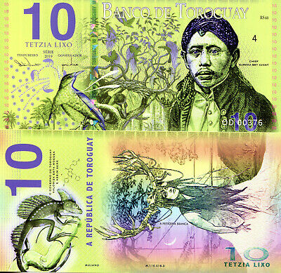 TOROGUAY 10 Lixo Fun-Fantasy ART Note Private Issue Currency New 2019 Issue Bill