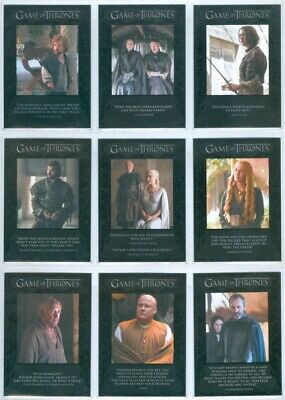 """Complete Quotable Set Q41-Q49"" Game Of Thrones Season 5"