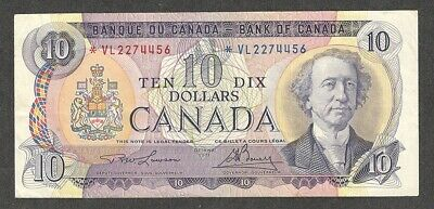 1971 *VL $10.00 BC-49cA F-VF Very SCARCE Canada ASTERISK REPLACEMENT Ten Dollars