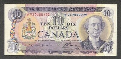 1971 *VA $10.00 BC-49cA VF+ Very SCARCE Bank of Canada ASTERISK REPLACEMENT Note