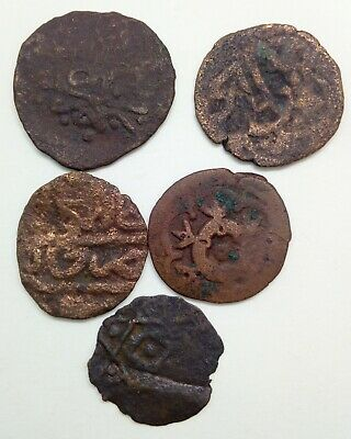 Medieval Bronze Coin  Islamic 5pc. / Golden Horde / Crimean Khanate 1300-1600AD.