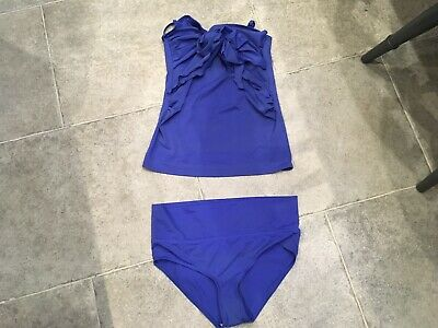 Asos Maternity Size 8 Blue Two Piece Swiming Costume