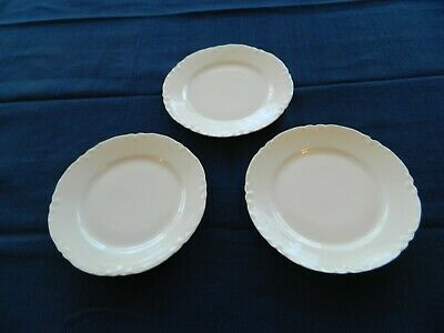 "Haviland China  Ranson Schleiger #1 White (3) 6 1/4"" Bread & Butter Plates   8-1"