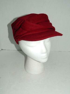 4e3562e9 Nine West Women's Red Twisted Newsboy Cap Hat Polyester NWT One Size MSRP  $34 A2