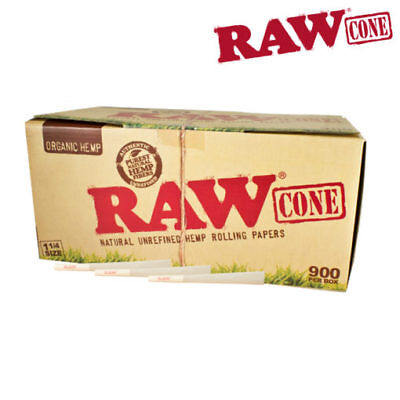 "RAW ORGANIC Cones Pre-Rolled 1¼"" Box 900 - CERTIFIED RAW Re-seller"
